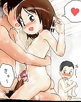 TAGS: bath, boy, cum, erection, girl, handjob, loli, lowres, nude, oekaki, penis, semen, squared, young.