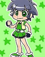 TAGS: buttercup, determined, lowres, matsubara kaoru, powered buttercup, powerpuff girls z, stars, vertical.